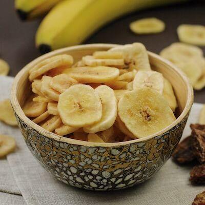 Leicht gesüßte Bananen-Chips aus kontrolliert biologischem Anbau