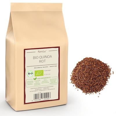Rote Quinoa Körner in Bio-Qualität
