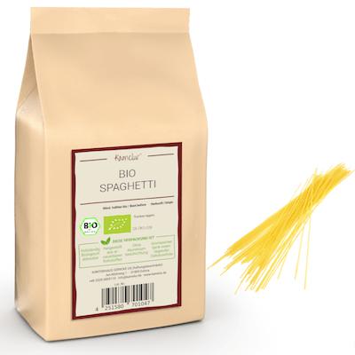Bio Spaghetti aus Hartweizen, Nudeln ohne Zusätze