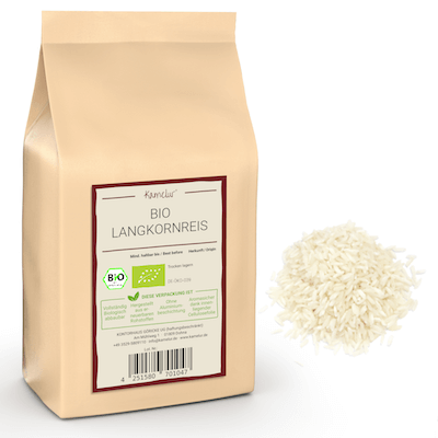 Geschälter Langkorn Reis in Bio-Qualität