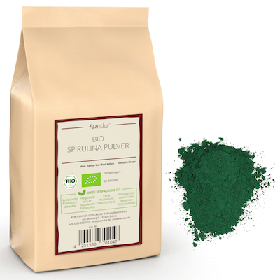 Grünes Bio Spirulina Algenpulver ohne Zusätze