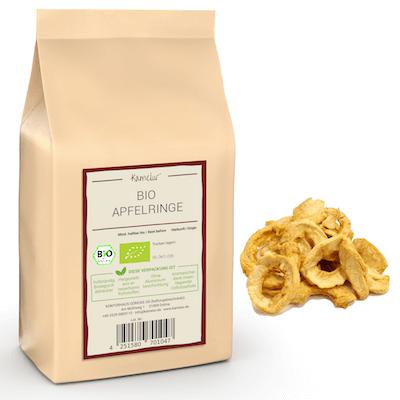 Weiche Bio Apfelringe ohne Zusätze