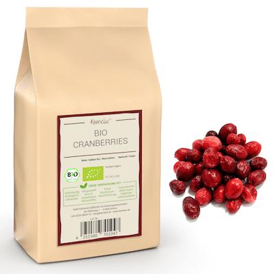 Gefriergetrocknete ganze Bio Cranberries, ohne Zusätze