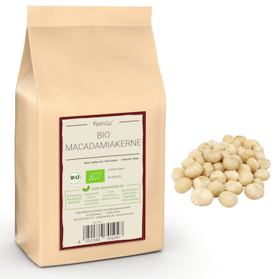 Bio Macadamia Nüsse von Kamelur, ungeröstet und ohne Zusätze