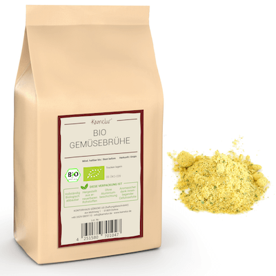 Bio Gemüsebrühe Pulver von Kamelur - ohne Hefe & ohne Glutamat