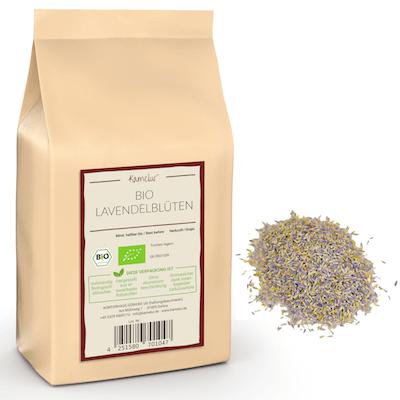 Getrocknete Bio Lavendelblüten ganz für Lavendeltee & mehr