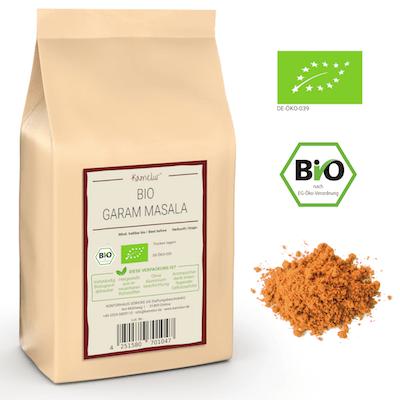 Unser Garam Masala mit Gewürzen in bester Bio-Qualität