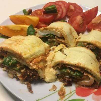 vegetarische-Pizzarolle