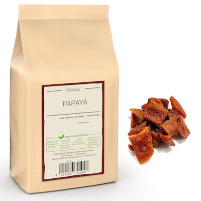 Papaya Stücke, schonend getrocknet und ohne Zusätze