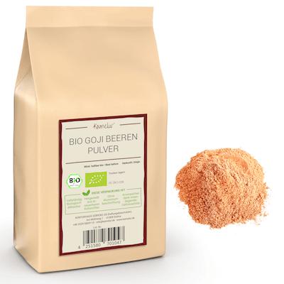 Bio Goji Pulver fein gemahlen, aus gefriergetrockneten Bio Gojibeeren
