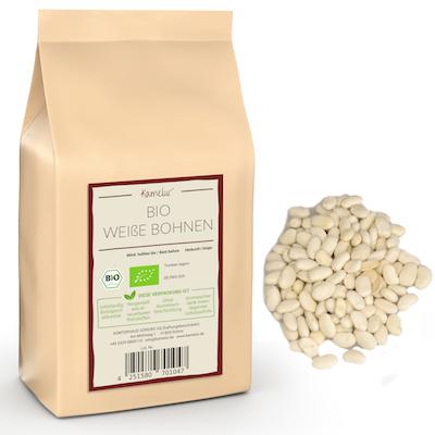 Bio Bohne weiß & getrocknet, weiße Bohnen ohne Zusätze