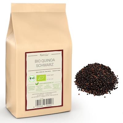 Schwarze Quinoa Körner in Bio-Qualität
